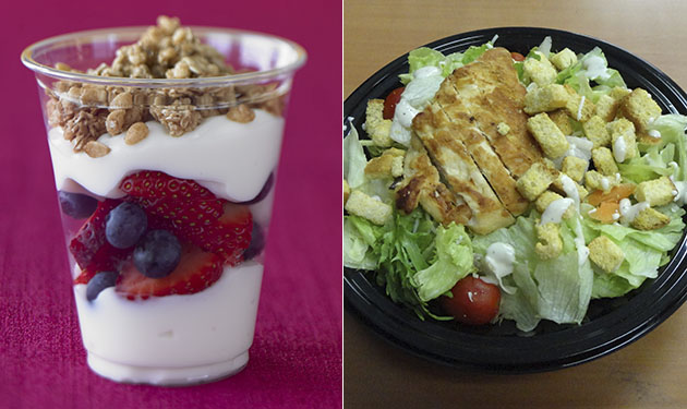 fruit-n-yogurt-parfait-with-southwest-salad