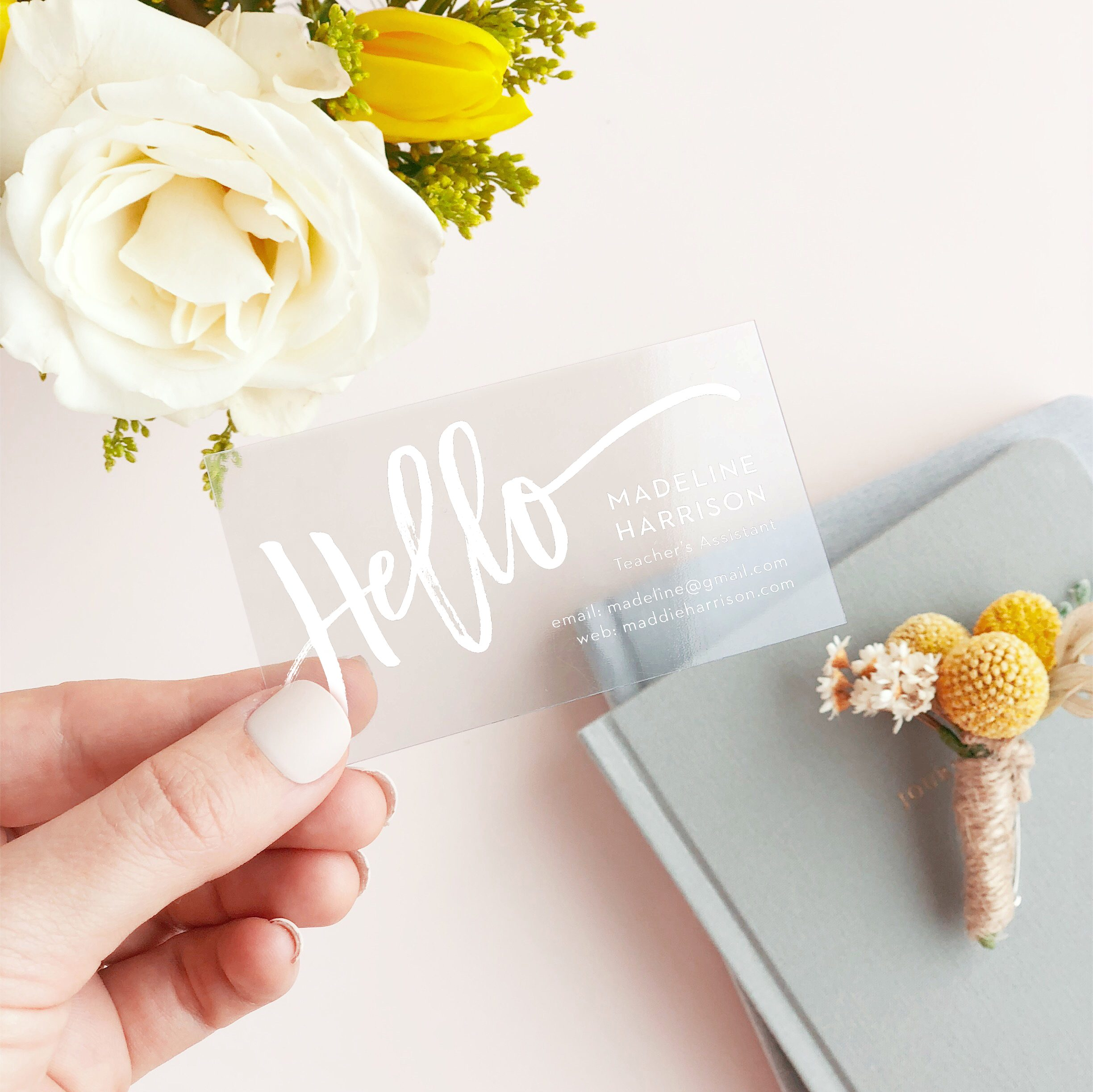 Cute Clear Business Card
